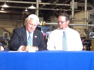 Andy Miller of PPCP with Governor Tom Corbett