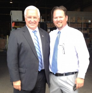 Andrew Miller of PPCP with Governor Tom Corbett