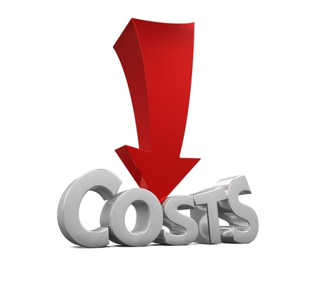 47248938 - costs reduction concept